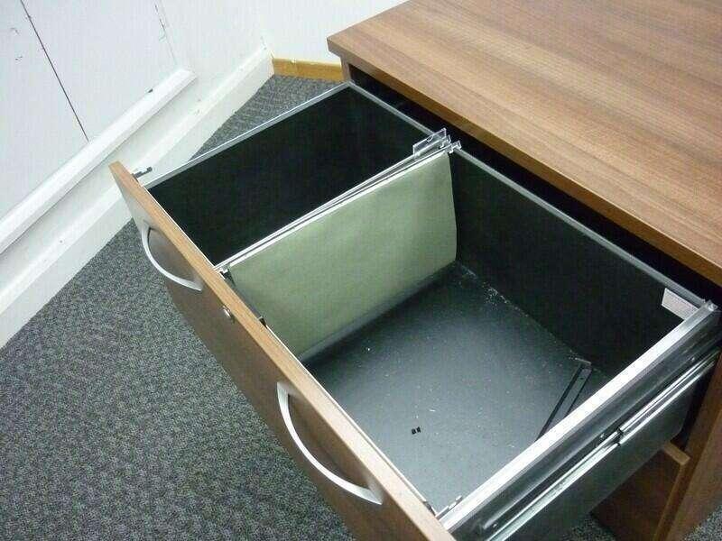 Sven walnut 2 drawer side filer