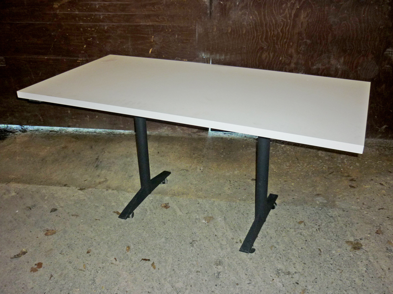 White 1600x800mm OPM flip top tables