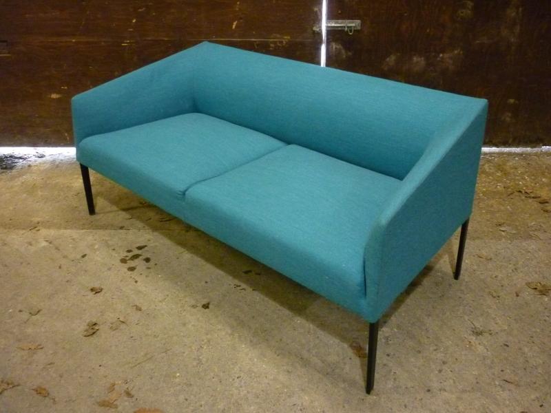 Turquoise Arper Saari sofa