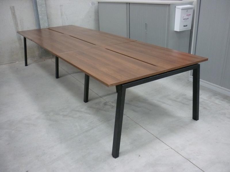 Elite Linnea 1200x600mm walnut compact bench desks