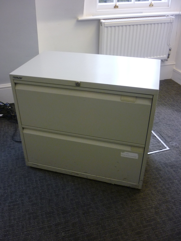 Grey Bisley 2 drawer side filer