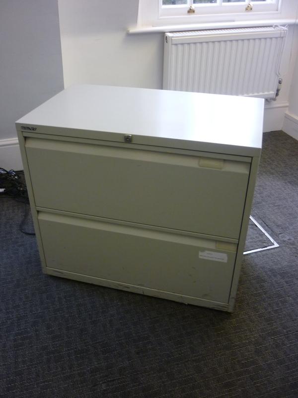 Grey Bisley 2 drawer side filer