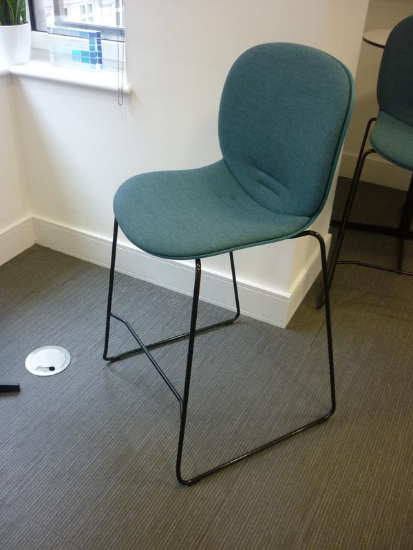 Aqua egg blue Offect bar stool