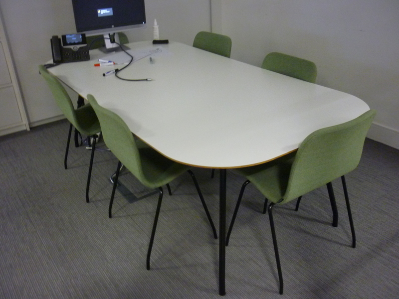 2200mm white meeting table