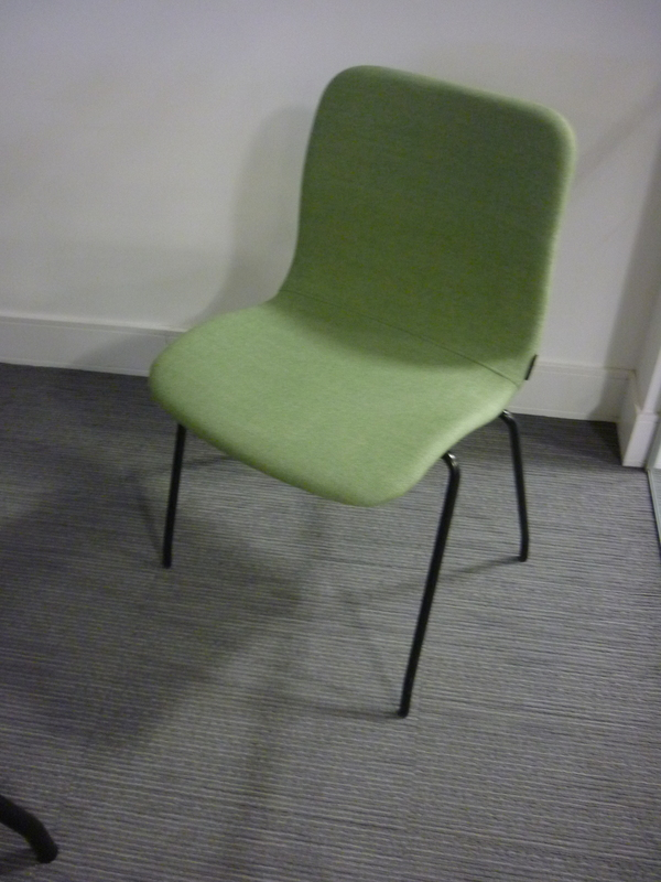 Green Offecct Cornflake stacking meeting chairs