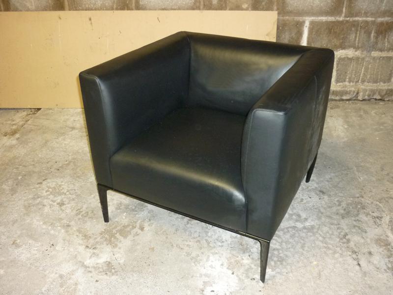 Walter Knoll Jaan 780 black leather armchairs