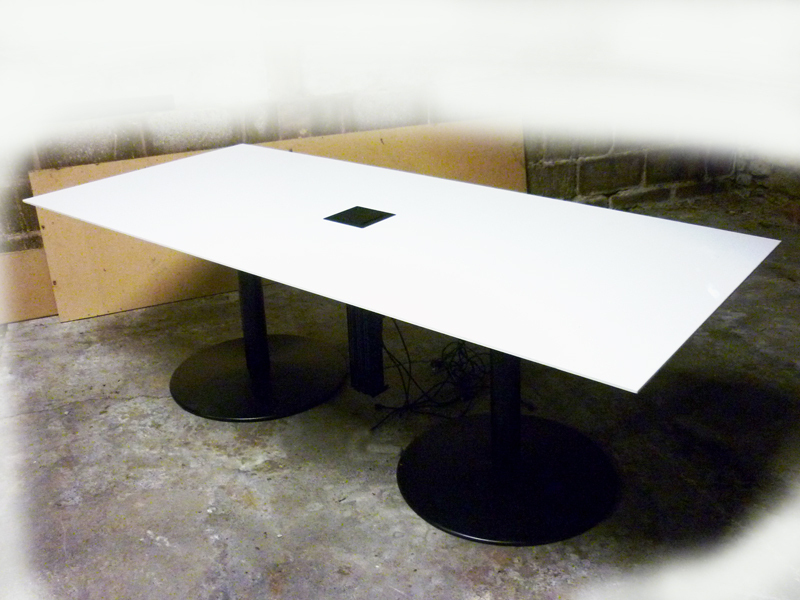 2200x1000mm white meeting table