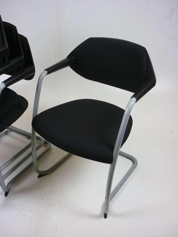 Black Boss Design Flex stacking chairs