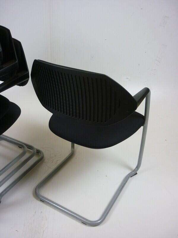 Black Boss Design Flex stacking chairs