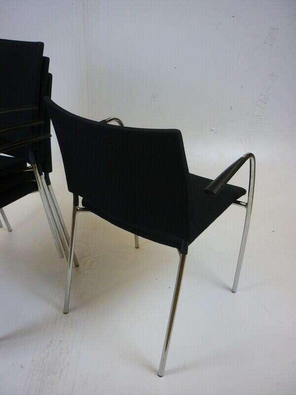Black Lammhults Spira stacking chairs