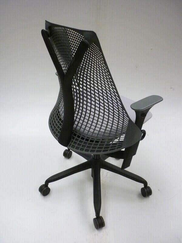Light grey Herman Miller Sayl chairs