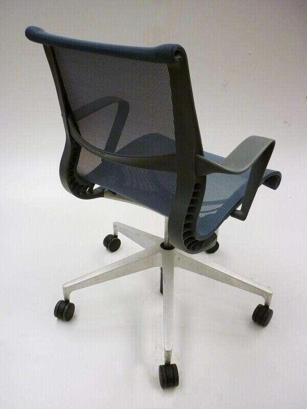 Berry Blue Herman Miller Setu chairs