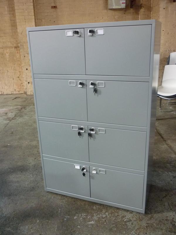 Silver metal 6 door lockers
