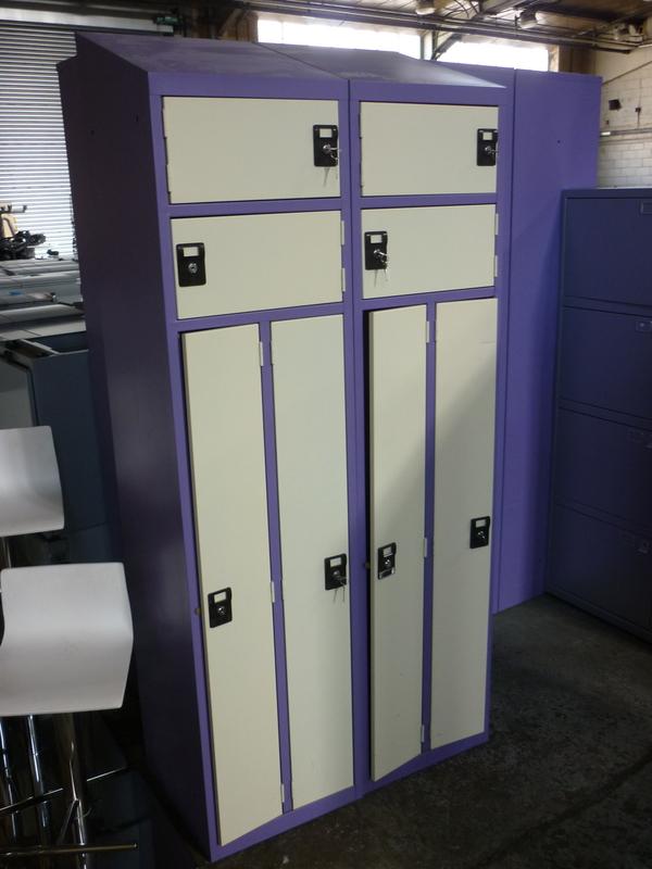 Purplecream 4 door lockers