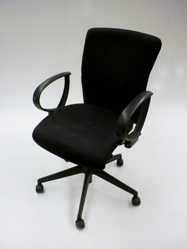 Black Orangebox Go chair with loop arms