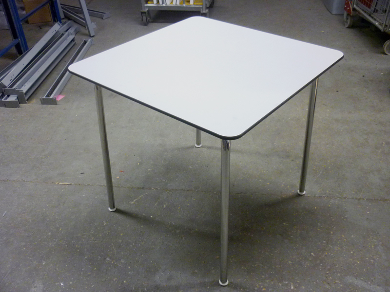 750mm square Vitra Hal white tables