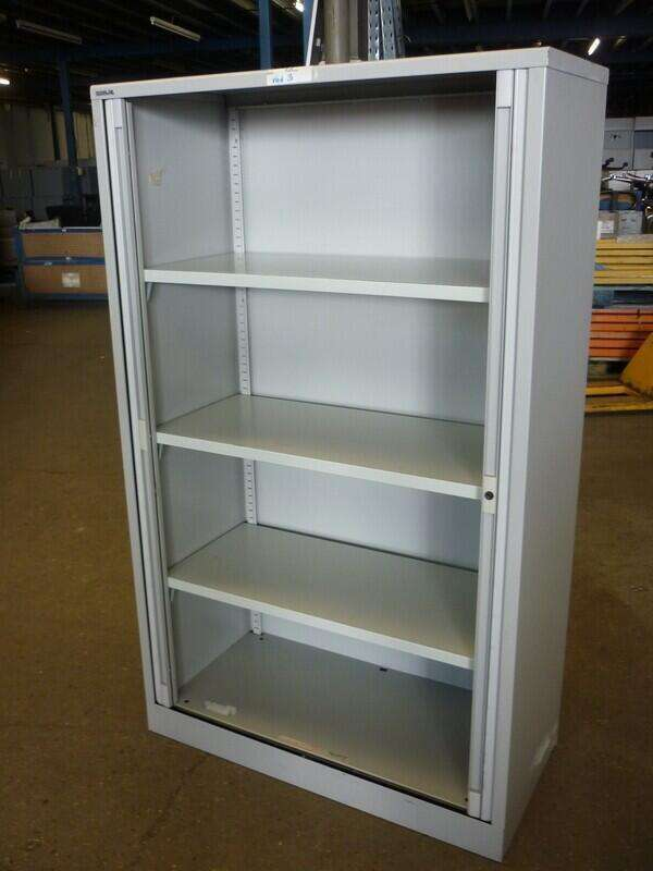 1650mm high Bisley grey tambour