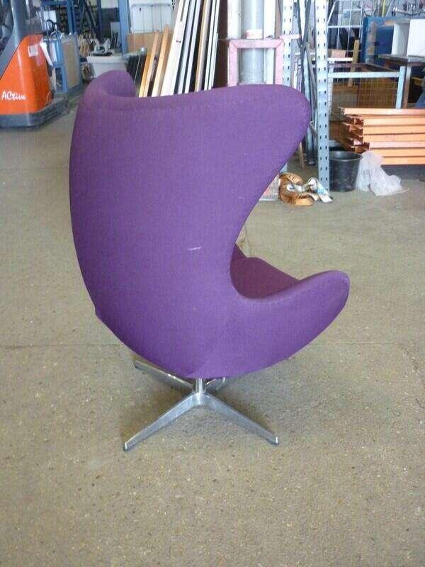Purple egg swivel chair