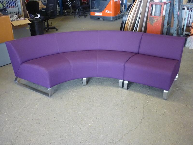 Purple Lyndon Design modular breakout seating