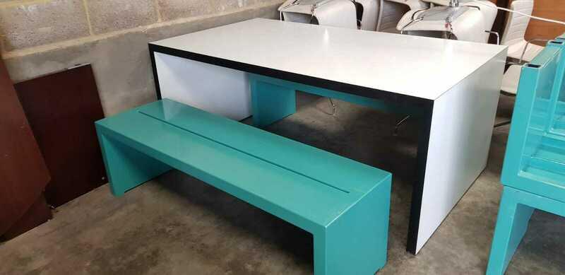 James Burleigh style table and bench set