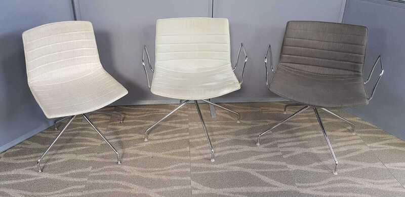 Arper Catifa 53 trestle base chairs