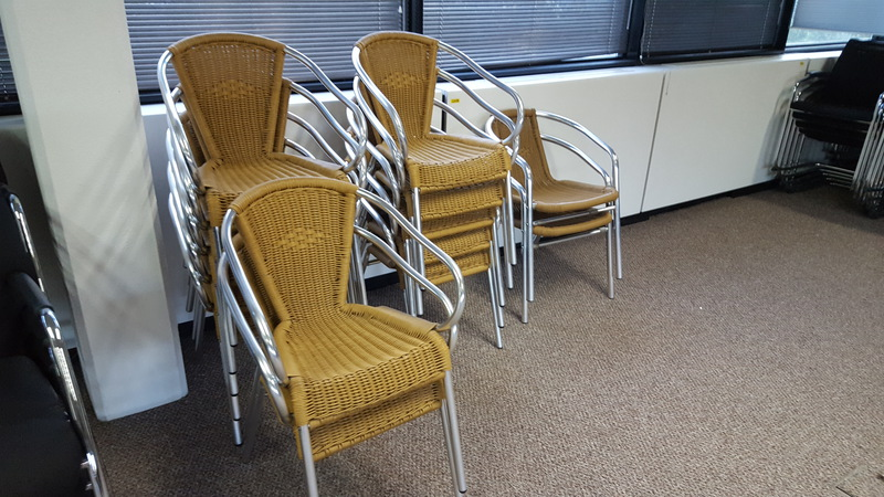 Rattan effect chairs (CE)