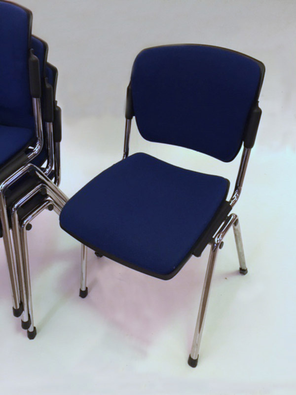 Blue Torasen Maximus stacking chairs