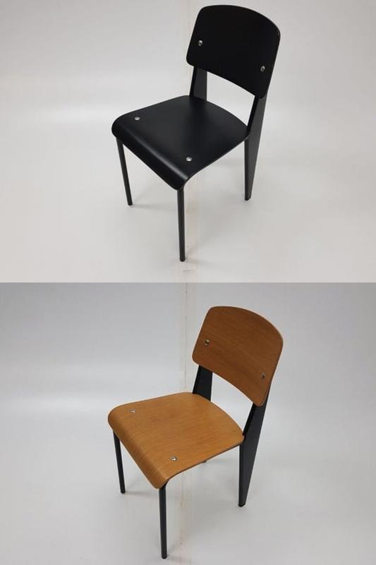 Retro cafeschool chairs in dark wood