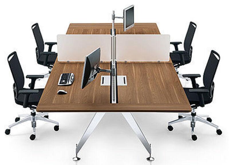 Sedus Invitation 1600x600mm walnut compact bench desks
