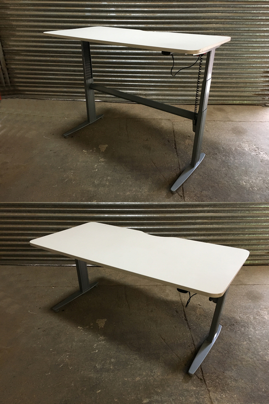 1400 &1600mm electric sit/stand desks with choice of tops