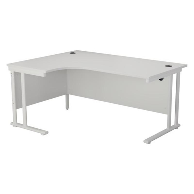NEW TC white 1600x1200mm radial desk amp desk high pedestal