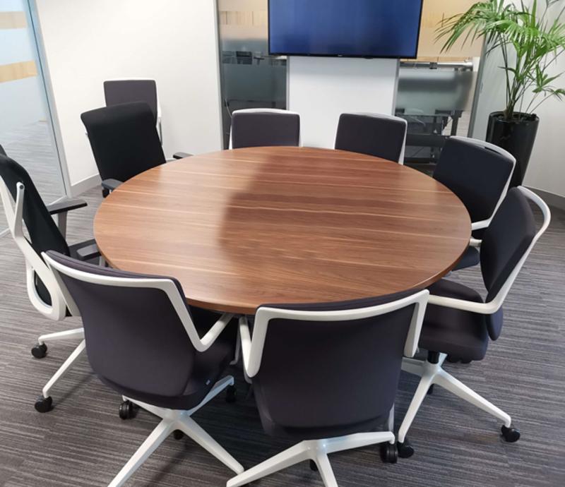 1500mm diameter walnut Tangent table