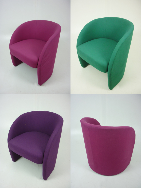 Fabric tub chairs