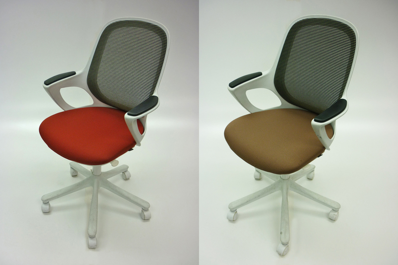 Verco Salt & Pepper beige task chairs
