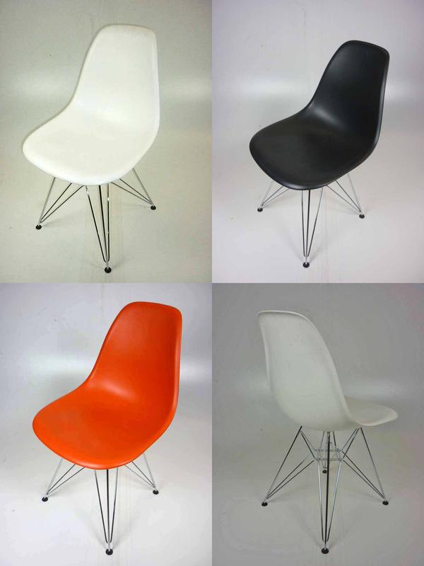 Vitra Eames plastic shell DSR chairs
