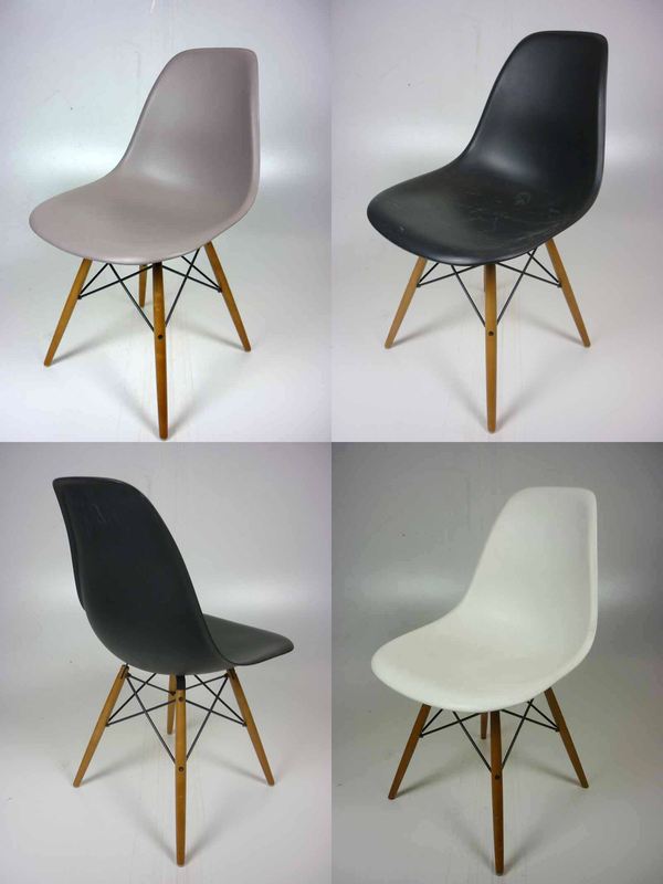 Vitra Eames plastic shell DSW side chairs