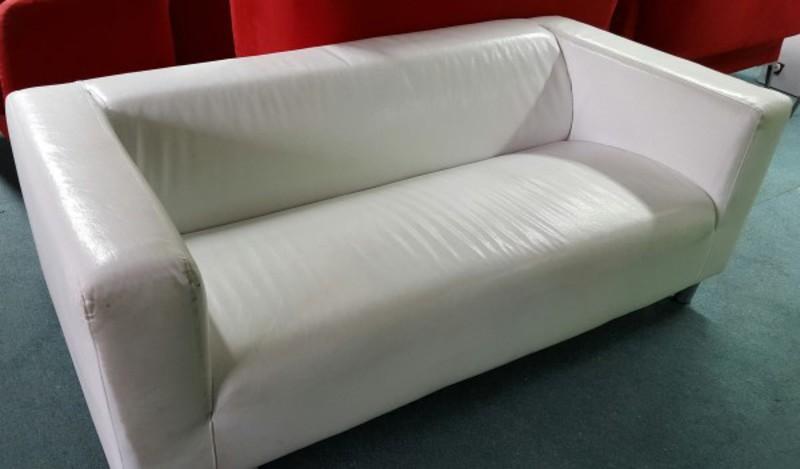 White leather sofa CE