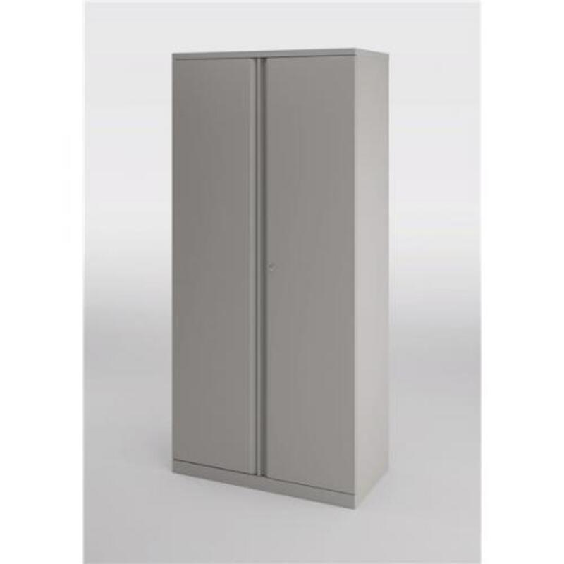 1800mm high Bisley grey double door cupboard