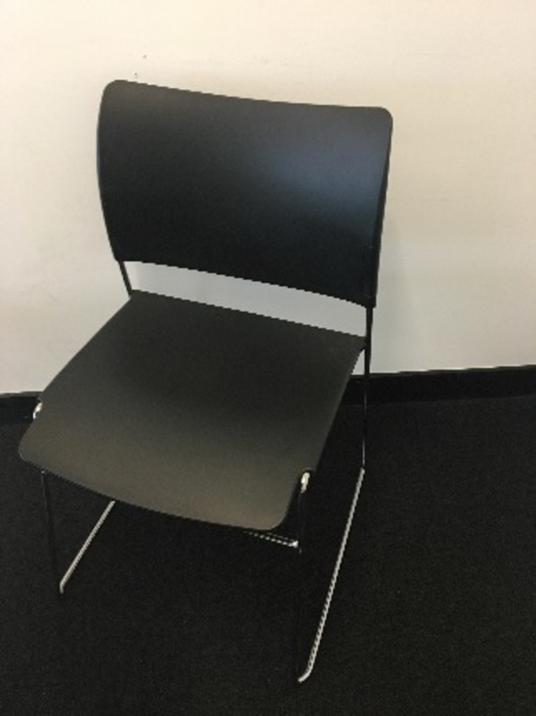 Black plastic meeting chair