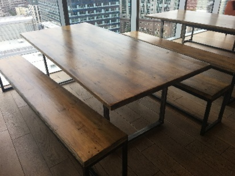 2200x1000mm rustic table and bench set