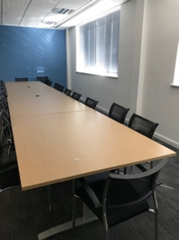 64003200x1200mm oak modular boardroom table