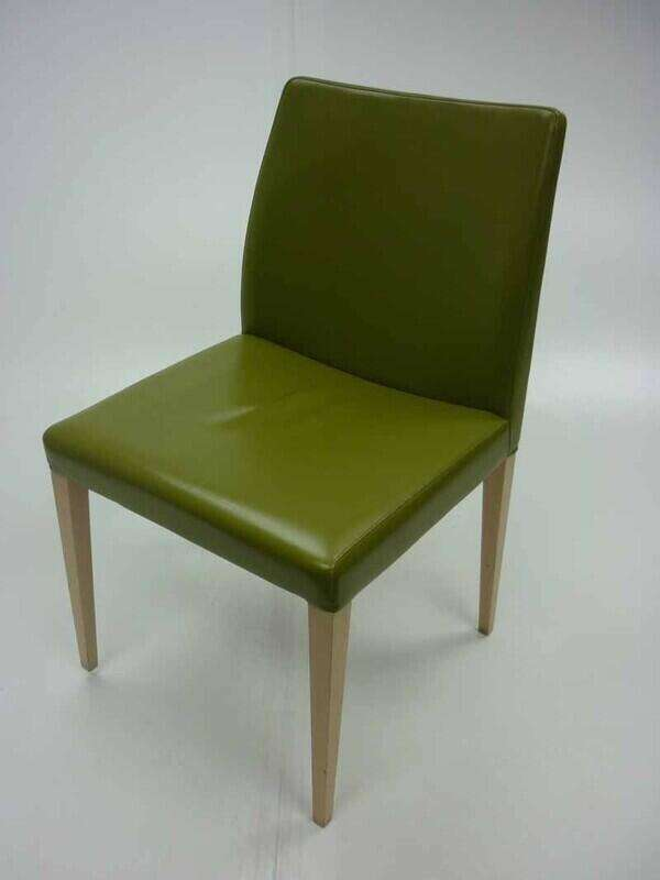 Red leather Poltrona Frau Liz chairs