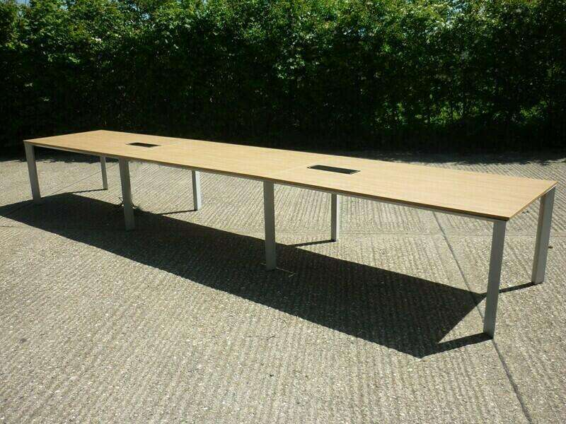 2400x1000mm oak Senator Cameleon table