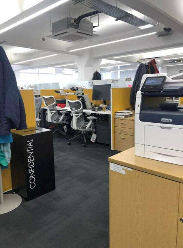 Herman Miller Layout Studio white 1200 & 1600mm bench desks