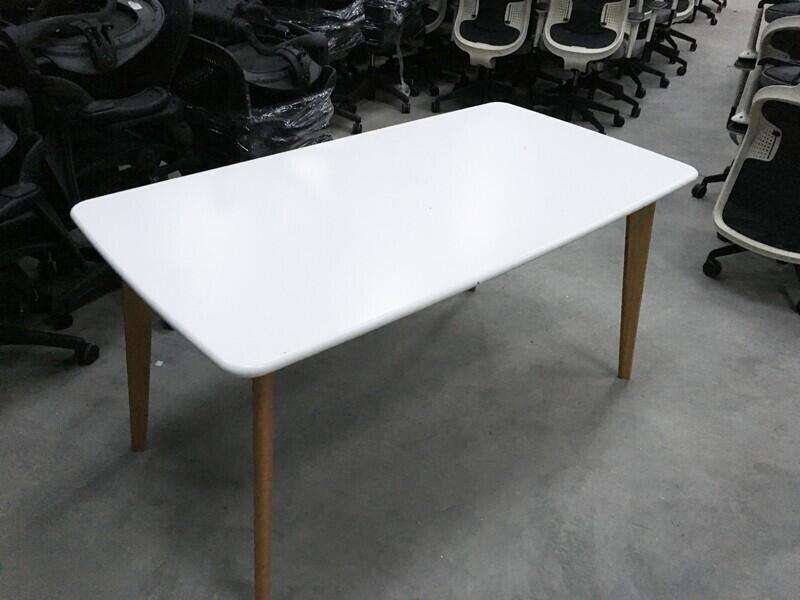 White 4 leg canteen chairs