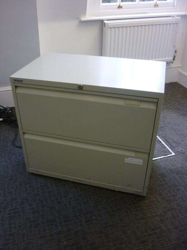 Grey Bisley 3 drawer side filer