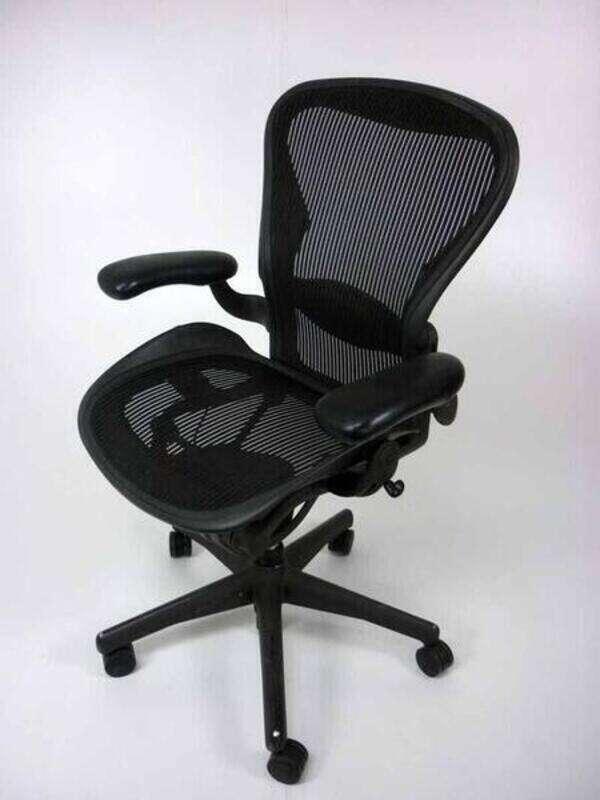 Herman Miller Graphite Aeron task chair size C