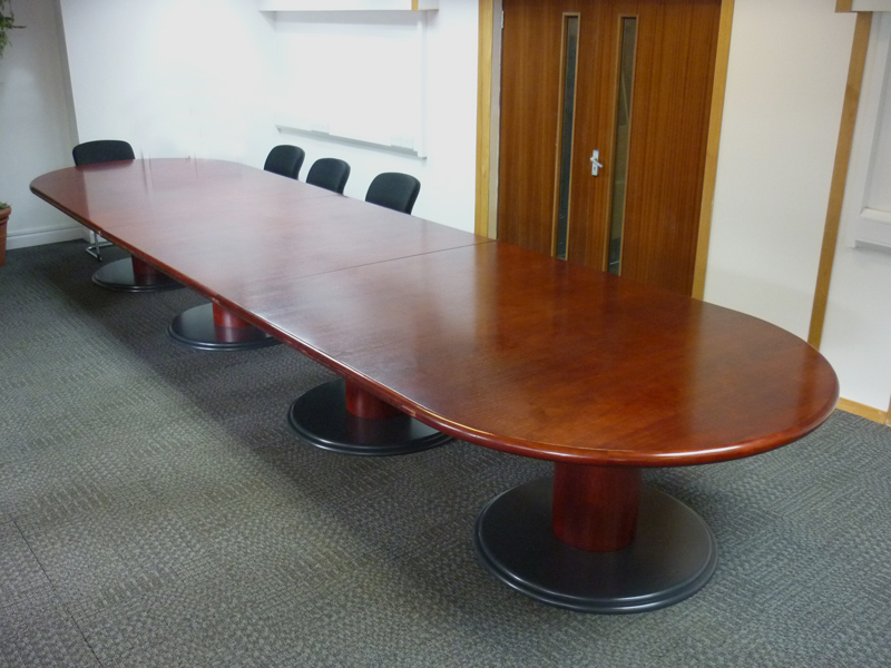 Sven 6000x1500mm Rosewood DEnd boardroom table