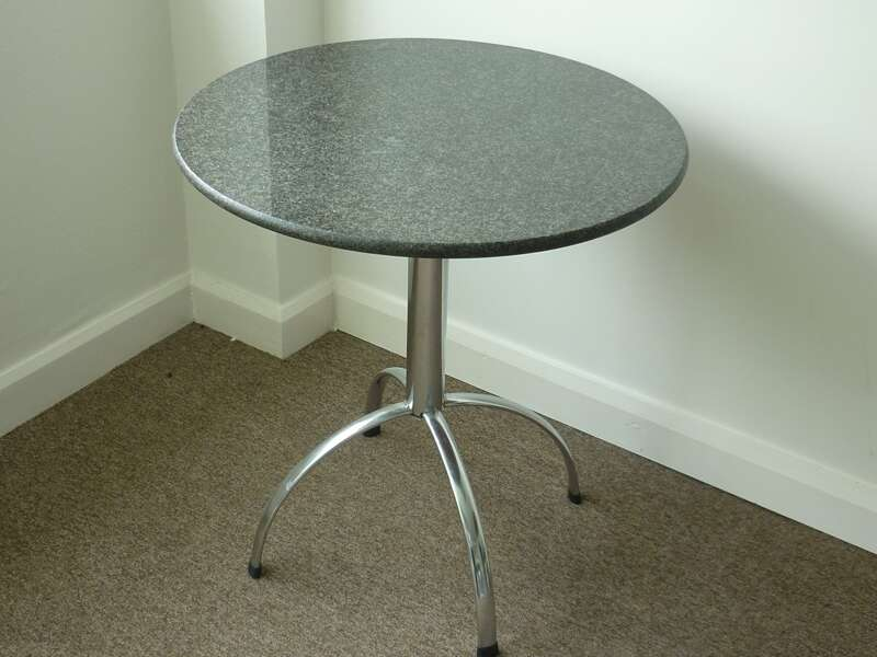 700mm diameter black granite café table (CE)