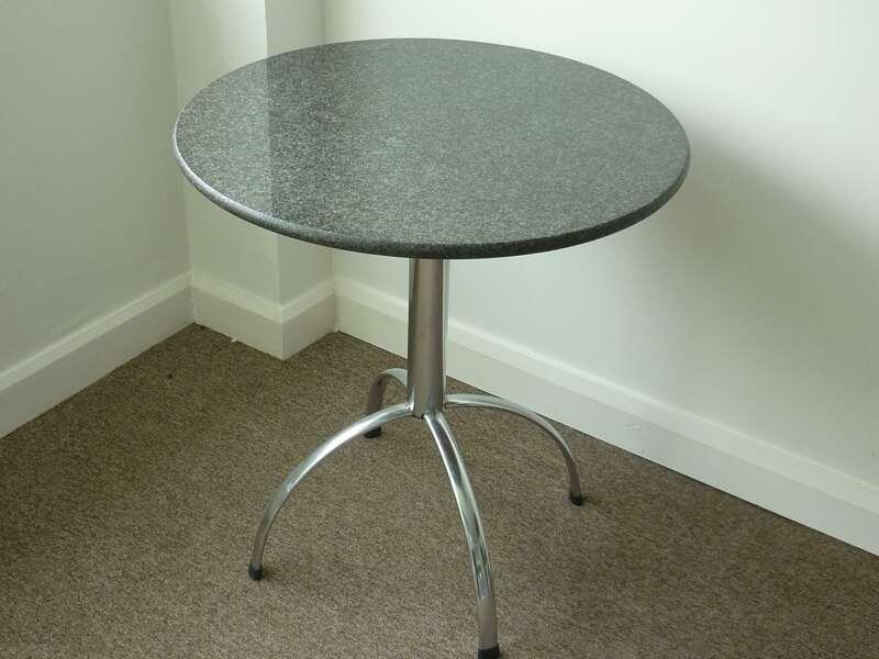700mm diameter black granite café table (CE)